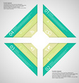 Square from four parts consists of three ribbons vector image vector image