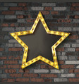 star with light bulbs vector image vector image