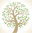 Stylized colorful tree icon vector image vector image