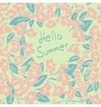 Summer floral card vector image