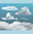 transparent realistic clouds vector image
