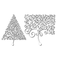 Trees of different shapes of curls Design element vector image vector image