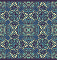 tribal blue vintage ethnic seamless pattern vector image vector image