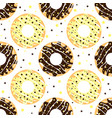 white and dark chocolate donuts vector image