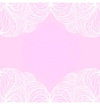 White borders on pink background vector image vector image