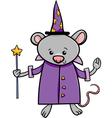 wizard mouse cartoon vector image vector image