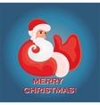 Cartoon Santa Claus that shows thumb up on a blue vector image