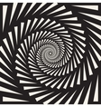 Black and White Spiral Triangles Swirl vector image