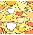 Seamless pattern with bright colorful cups vector image