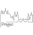 prague city one line drawing background vector image