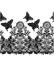 seamless butterfly lace fabric pattern vector image