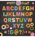 Sweet font vector image