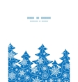 falling snowflakes Christmas tree silhouette vector image