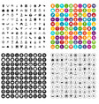 100 valentine day icons set variant vector image vector image
