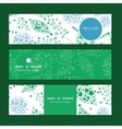 abstract blue and green leaves horizontal vector image