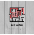 Abstract maze logo Logo icon concept vector image vector image