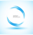 abstract swirl energy blue circle vector image vector image