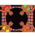 Afro retro girls vector image
