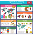 Agriculture animal husbandry infographics vector image vector image