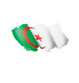 algeria flag on a white vector image vector image