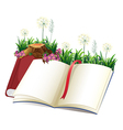 An empty storybook vector image
