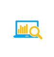 analytics seo analysis icon vector image vector image
