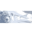 angry bear in snowy mountains vector image vector image