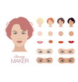 beauty face maker vintage style vector image vector image