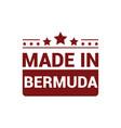 bermuda stamp design vector image vector image