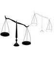 black justice scales vector image