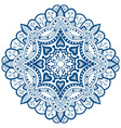 Blue Mandala Ornament vector image