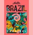 brazil carnival with trendy vector image
