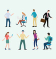 business man and woman set collection with modern vector image vector image