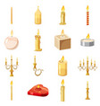 candles forms icons set cartoon style vector image vector image