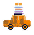 car with luggage on top vector image vector image