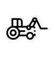 case loader tractor vehicle thin line icon vector image