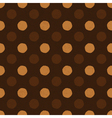 coffee dot seamless background vector image vector image