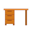 colorful graphic with wooden office desk with vector image vector image