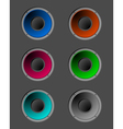Coloured speakers vector image vector image