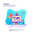 concept search modern conceptual for banner vector image vector image