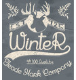 creative graphic logo message for winter design vector image vector image