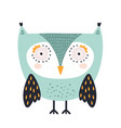 cute owl childish print perfect for t-shirt vector image