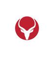deer logo template icon design vector image vector image