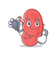 doctor kidney character cartoon style vector image