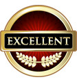 excellent gold icon vector image vector image