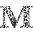 Floral M vector image vector image