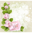 floral spring background1 vector image vector image