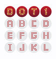 Font dot alphabet design vector image vector image