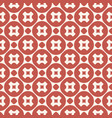 funky geometric red and beige seamless pattern vector image vector image