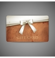gift card with grunge cardboard texture and white vector image vector image